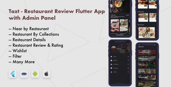 ✨Restaurant Review Flutter App with Admin Panel Nulled