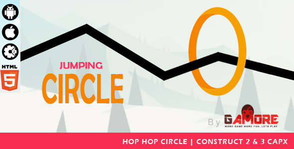 ✌Jumping Circle – HTML5 Game – Construct2 & Construct 3 CAPX.-  Mobile Responsive Nulled