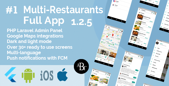 ✌Food Delivery Flutter App + PHP Laravel Admin Panel Nulled