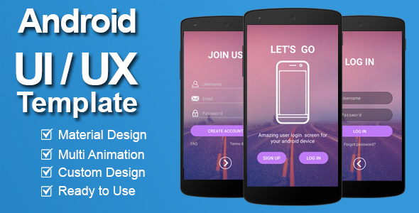 ✨Android Login & Register Template Nulled