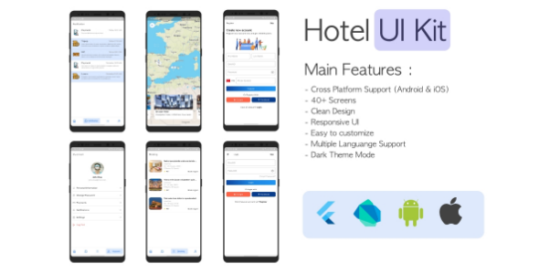 ✅ Hotel Booking Application Template iOS & Android – Flutter Nulled