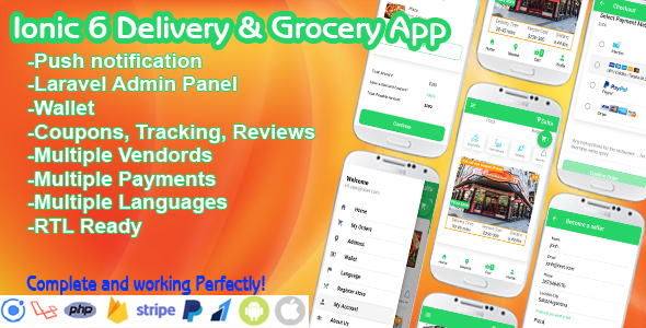 ✌Food Delivery Ionic + PHP Laravel Admin Panel Nulled