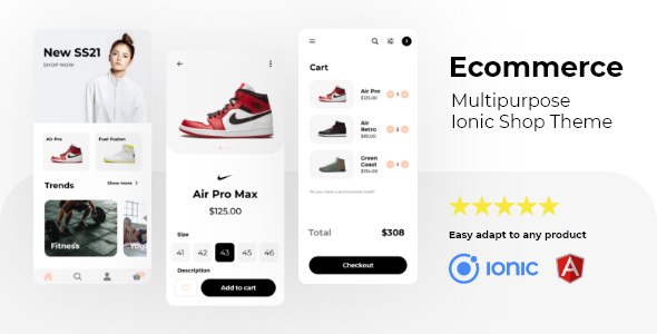 ✌Ecommerce – Multipurpose Ionic 5 Store Theme Nulled