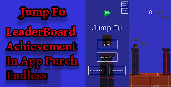✨Jump Fu 2D&3D Unity Game   Admob Ads   Play Games Services Nulled