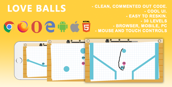 ✌Love Balls. Mobile, Html5 Game. .c3p (Construct 3) Nulled