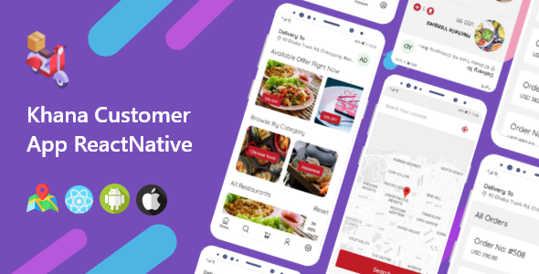 ✨Khana Multi Restaurants And Food Delivery Customer App Nulled