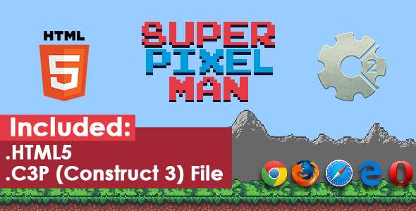 ✨Super Pixel Man – HTML5 Game Nulled