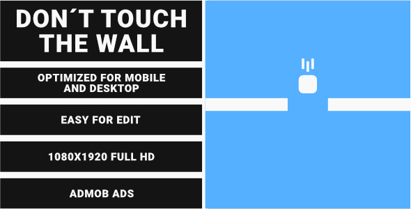 ✌Don't Touch The Wall (HTML5 Game + Construct 3) Nulled