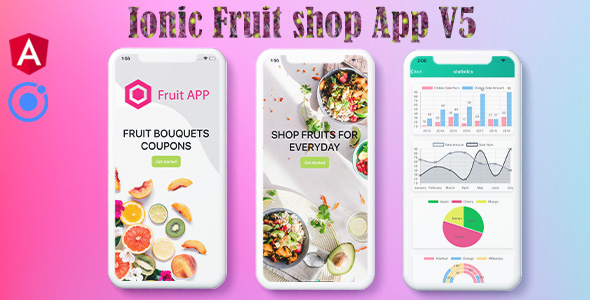 ✨Ionic 5 Fruits UI Theme / Template / Firebase App(Android+Ios+Web) Nulled