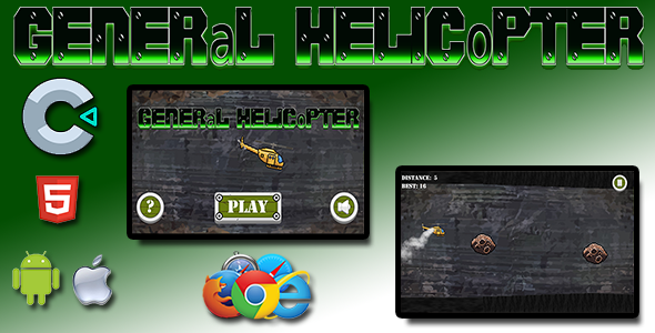 ✨General Helicopter – HTML5 Mobile Game Nulled