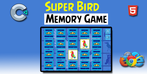 ✨Super Birds Memory – HTML5 Mobile Game Nulled