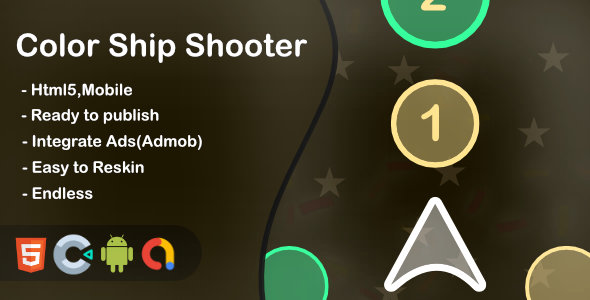 ✌Color Ship Shooter(Html5 + Construct 3 +Mobile) Nulled