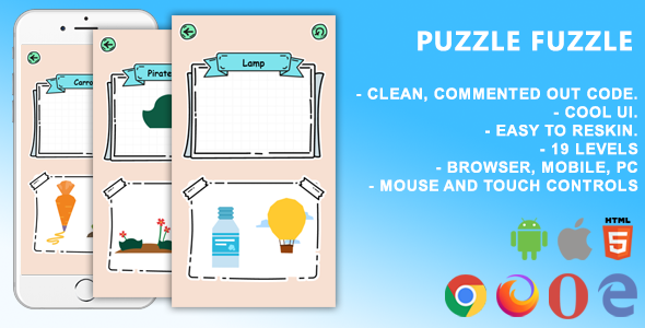 ✨Puzzle Fuzzle. Mobile, Html5 Game. .c3p (Construct 3) Nulled