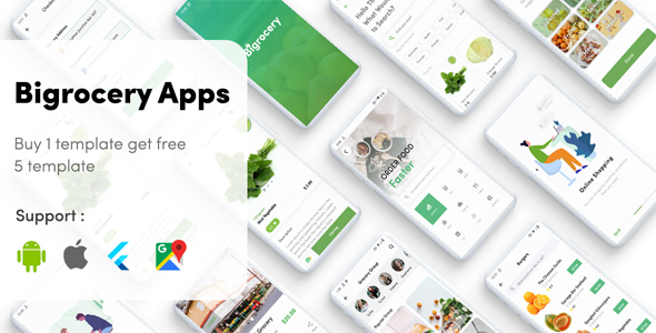 ✌Flutter Grocery – Bigrocery in Flutter grocery app Nulled