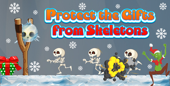 ✨Protect the Gifts from Skeletons (CAPX and HTML5) Christmas Game Nulled