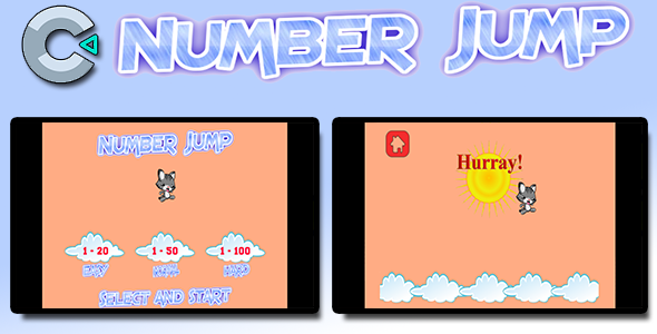 ✌Number Jump – HTML5 Mobile Game Nulled
