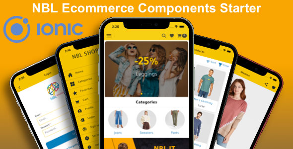 ✌UI/UX IONIC – NBL Ecommerce Components Starter Nulled