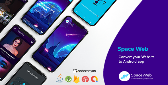 ✅ SpaceWeb | Android WebView Template Nulled