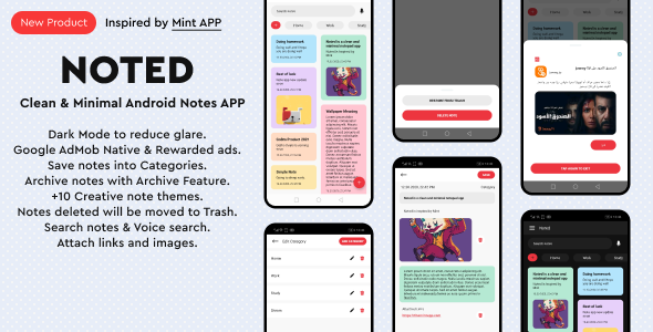✅ Noted – Full Native Android Notes App with Clean & Minimal UI Nulled