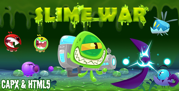 ✌Slime War (CAPX and HTML5) Shooting Game Nulled