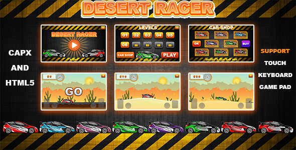 ✅ Desert Racer v1.0 (CAPX and HTML5) Car Racing Game Nulled