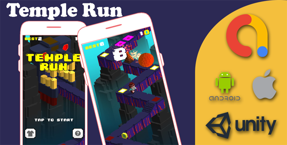✨Temple Runner Game – iOS & Android Game – Unity Game Project Nulled