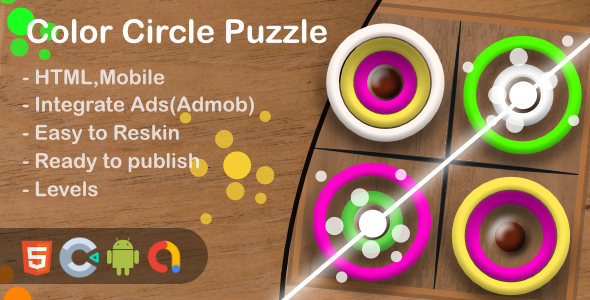 ✨Color Circle Puzzle(Html5 + Construct 3 +Mobile) Nulled
