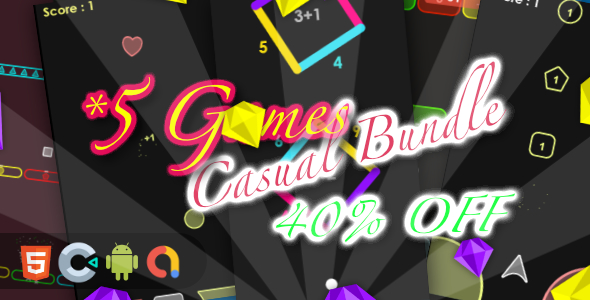 ✅ Casual Game Bundle 3- 5 Games(Html5 + Construct 3 +Mobile) Nulled