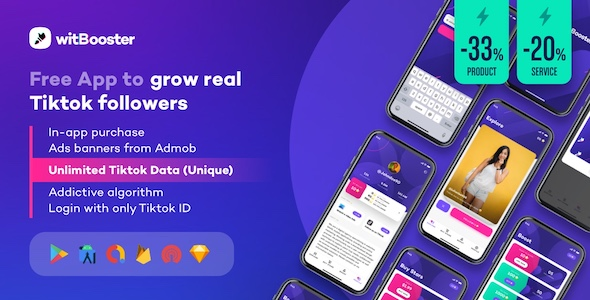 ✨WitBooster – Free App to grow real Tiktok video followers for Android Nulled