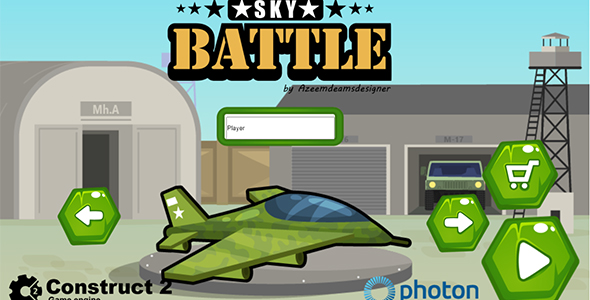 ✨Sky Battle Construct 2 .capx & html5 game Nulled