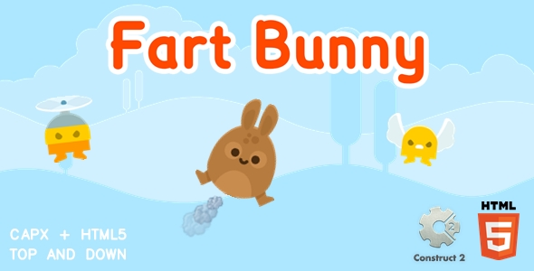 ✌Fart Bunny – Construct 2 Html5 Game Nulled
