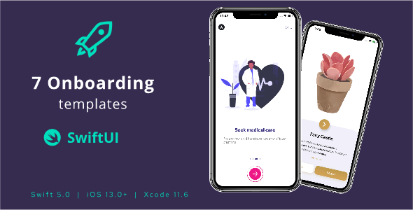✨7 Onboarding Screens in SwiftUI templates Nulled