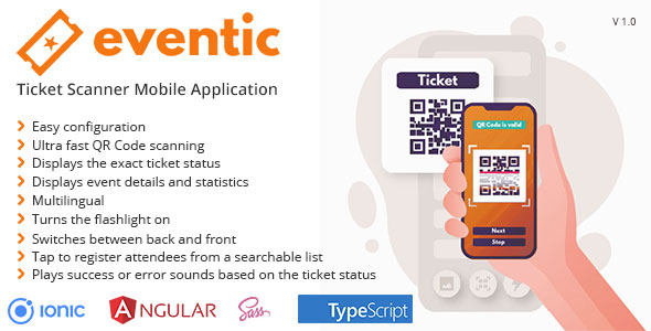 ✨Eventic – Ticket Scanner Mobile Application Nulled