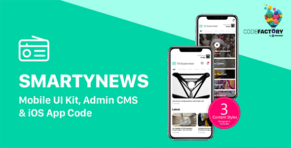 ✅ SMARTYNEWS – Mobile UI Kit, Admin CMS & iOS App Code Nulled