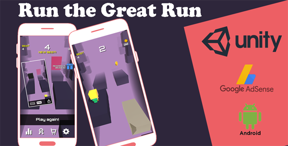✌Run the Great Run – iOS & Android Game – Running Infinite Game Nulled