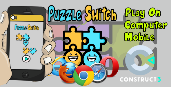 ✌Puzzle Switch  HTML5 Game – With Construct 3 All Source-code (.c3p) Nulled