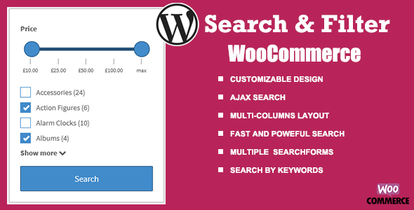 ✌WooCommerce Search & Filter plugin for WordPress Nulled