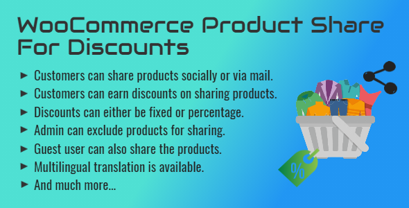✌WooCommerce Product Share For Discounts | Share to Earn Nulled