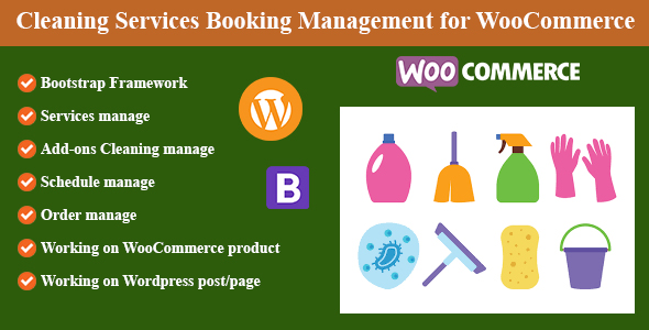 ✌Cleaning Services Booking Management for WordPress and WooCommerce Nulled