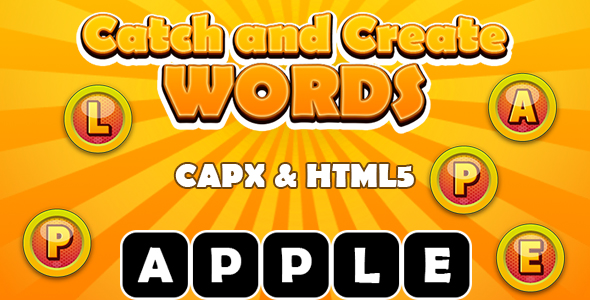 ✅ Catch and Create Words (CAPX and HTML5) Kids Learning Game Nulled