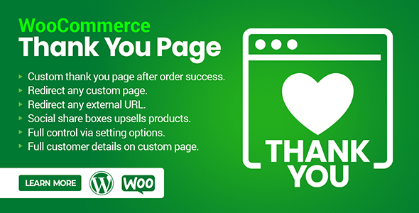 ✌WooCommerce Custom Thank you & Order Confirmation Page Nulled