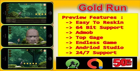 ✅ Gold Run (compete game+admob+android) Nulled