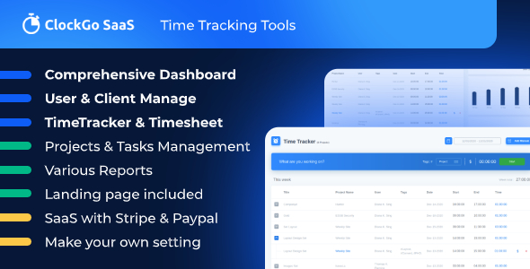 ✌ClockGo SaaS – Time Tracking Tool Nulled