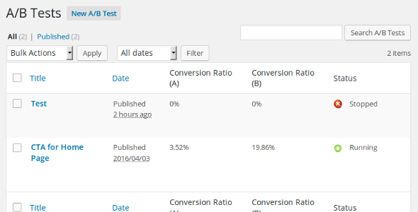 ✌A/B Tester for WordPress Nulled