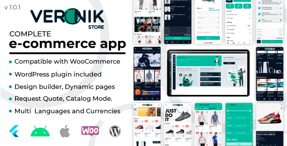 ✨Veronik Store –  Flutter WooCommerce Android & Ios  e-commerce Nulled