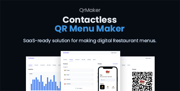 ✨QrMaker – SaaS – Contactless QR Restaurant Menu Maker Nulled