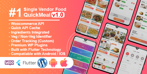✌QuickMeal WooCommerce – Flutter Food Delivery Full App Nulled