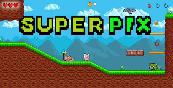 ✅ Super Pix – HTML 5 – Construct 3 Platform Game Nulled
