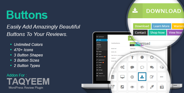 ✌Taqyeem – Buttons Addon Nulled