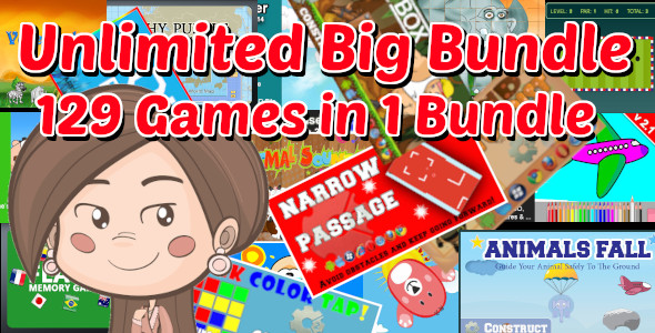 ✅ Unlimited Big Bundle | 129 Construct 2 and GameMaker 1.4 HTML5 Games With Source in 1 Package Nulled